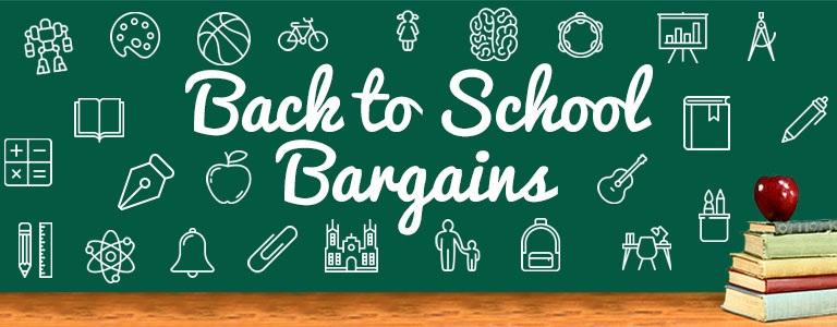 Back to School Bargains