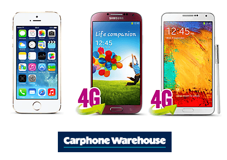 Carphone Warehouse Phones for Christmas