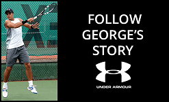 George, Under Armour Winner's challenge to become pro tennis player