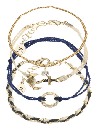 Nautical Stacking Bracelets