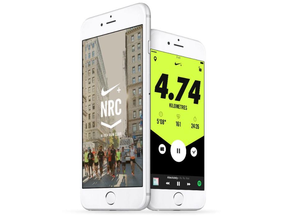 Nike Run Club App on iPhone