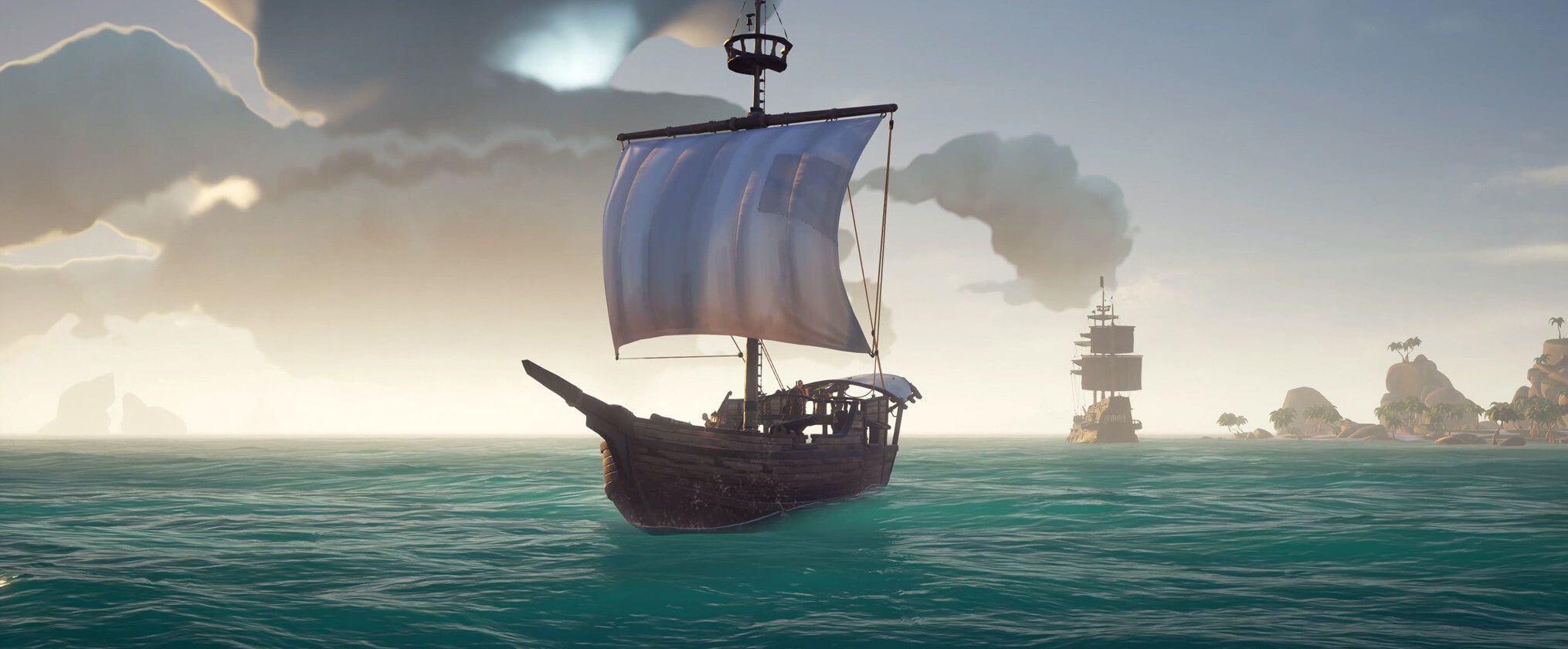 The Sloop in Sea of Thieves