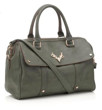 Stag Head Soft Barrel Bag