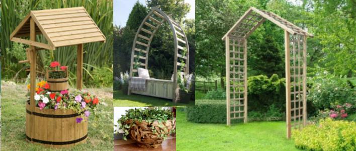 Wood Garden Features