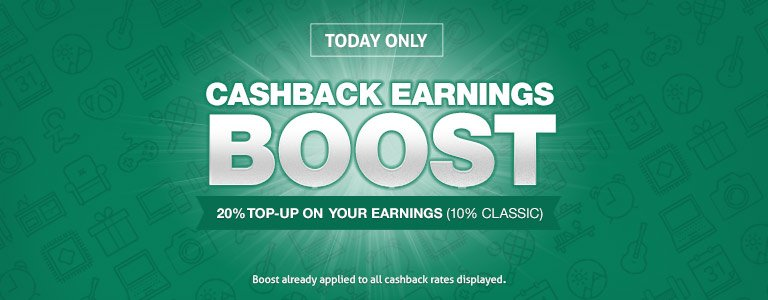 cashback earning boost