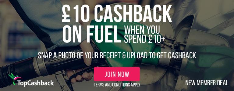 £10 Cashback on Fuel