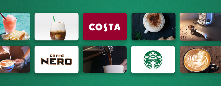 Get a 10% payout Bonus for Costa, Nero and Starbucks