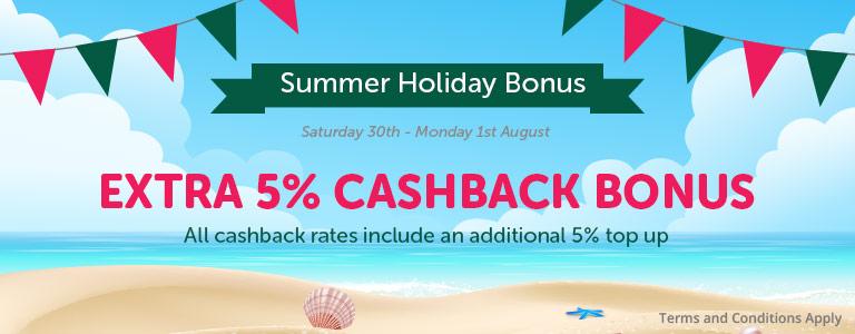 Summer Cashback Bonus