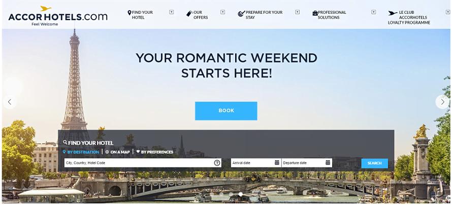 Accorhotels.com Homepage Screenshot