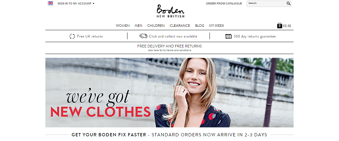 Boden Homepage Screenshot