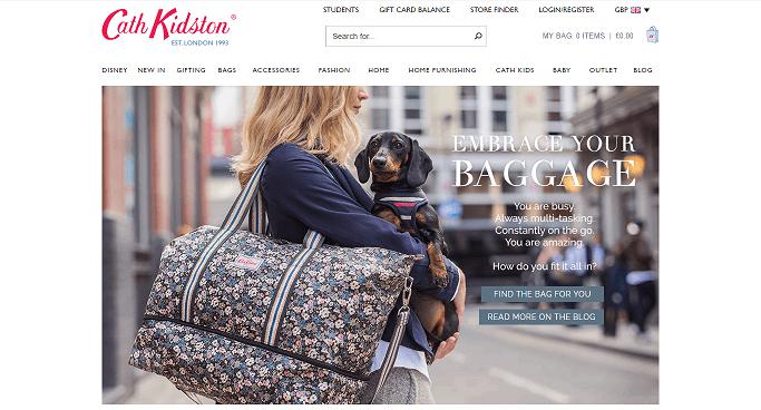 Cath Kidston Homepage Screenshot
