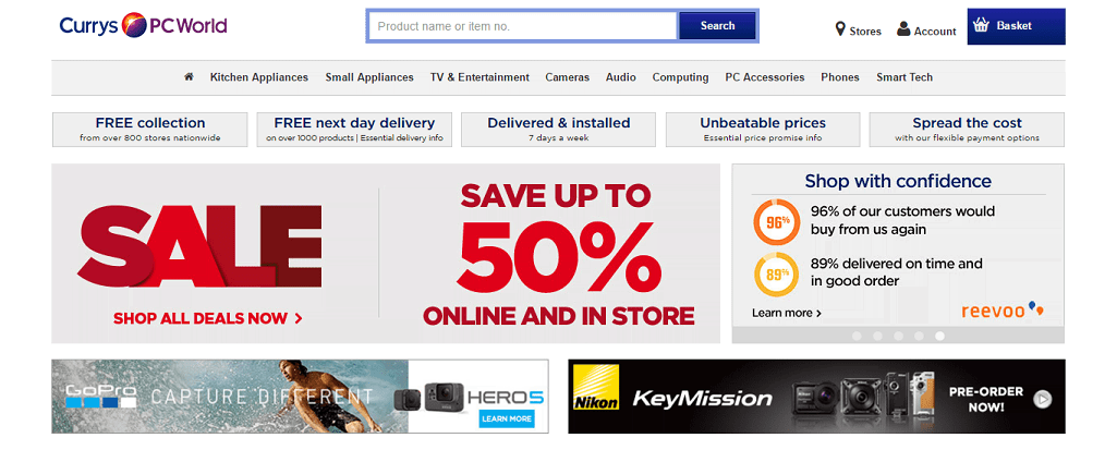 samsung tv currys. currys homepage screenshot samsung tv