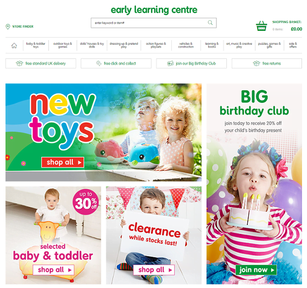 Early Learning Centre Homepage