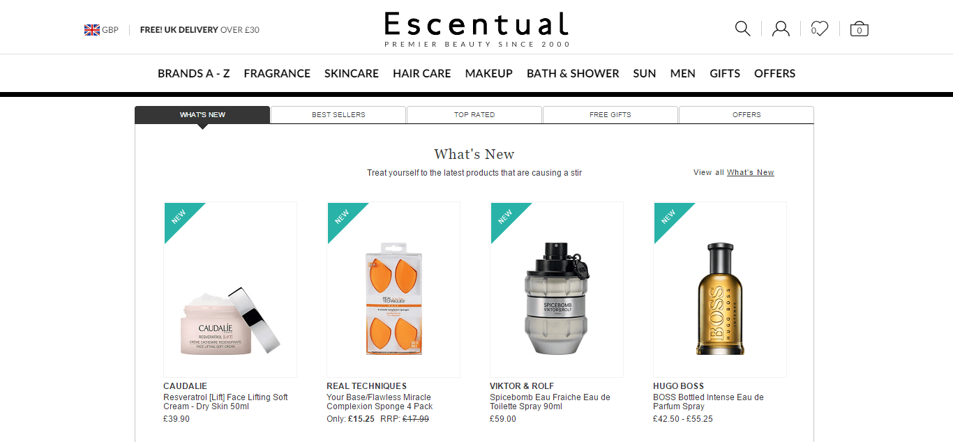Escentual Cashback Offers, Discounts & Deals for August | TopCashback