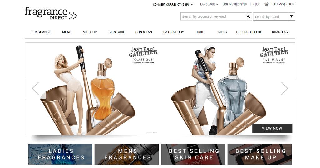 Fragrance Direct Homepage Screenshot