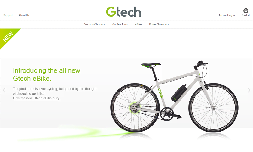 Gtech Homepage Screenshot