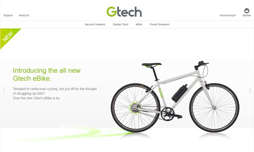 Gtech Homepage Screenshot