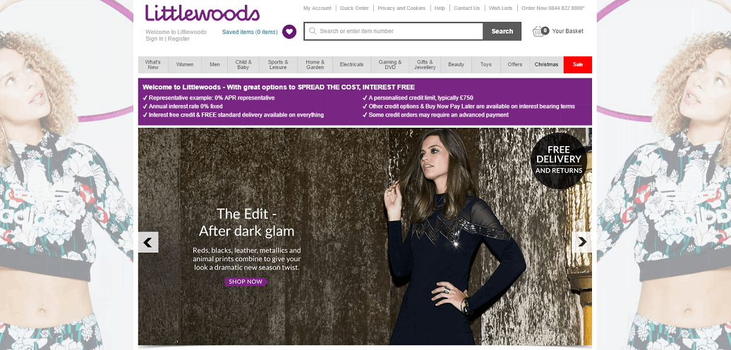 Littlewoods Homepage Screenshot