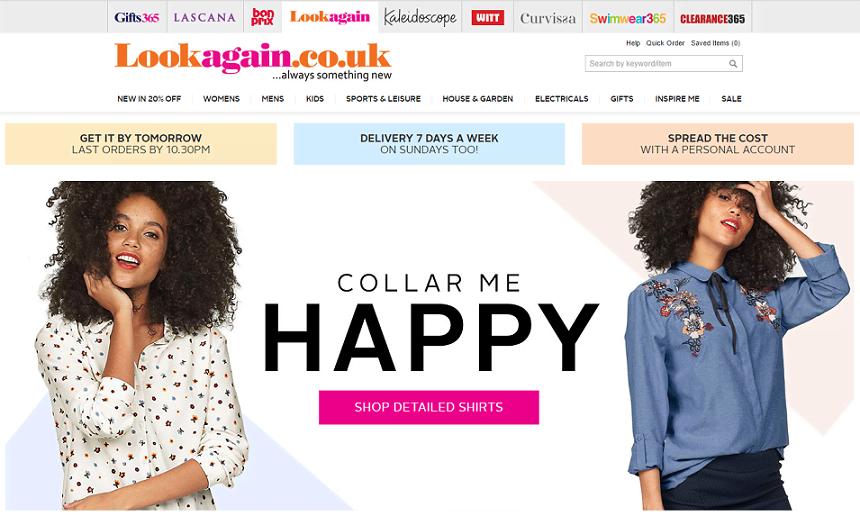 Lookagain Homepage Screenshot