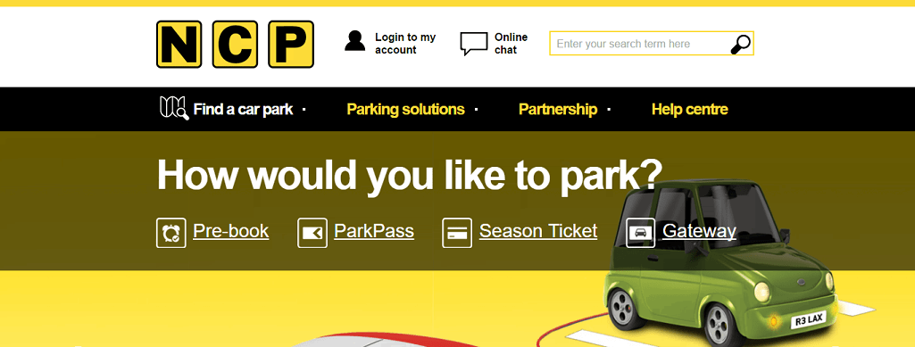 NCP Parking - How would you like to park?