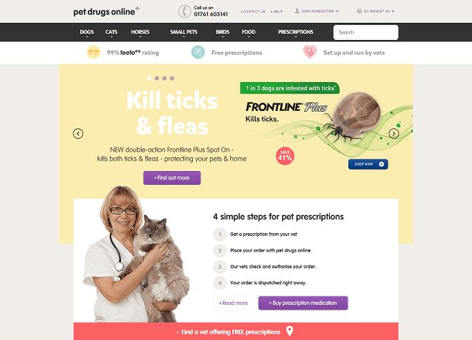 Pet Drugs Online Homepage Screenshot