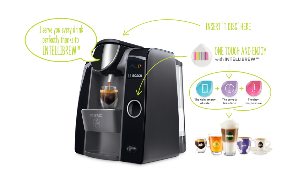 Tassimo Intellibrew™ Technology example