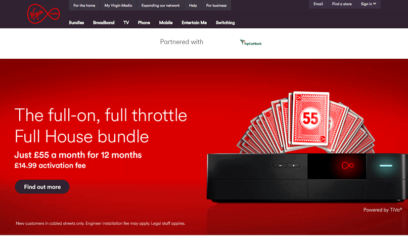 Virgin Media Homepage