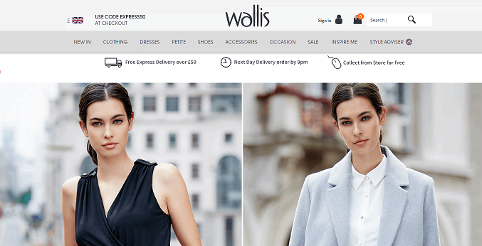 Wallis Homepage Screenshot