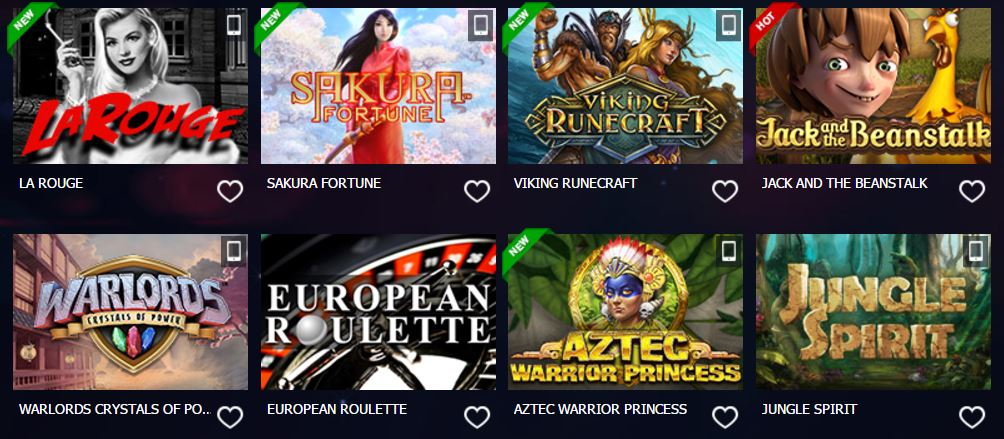 10Bet Casino - Choose Your Game
