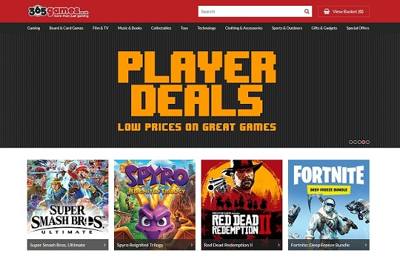365games Homepage Screenshot