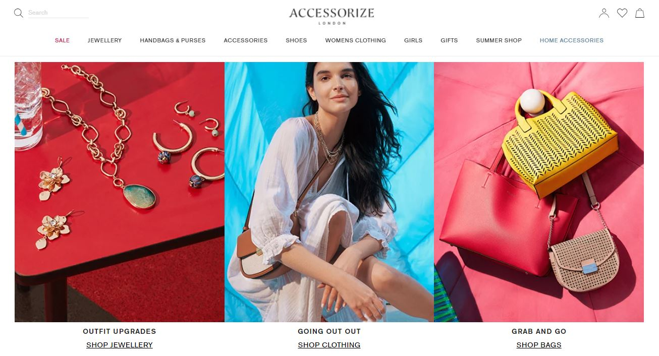 Accessorize Homepage Screenshot
