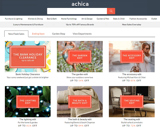 Achica Homepage Screenshot