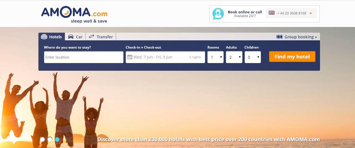 Amoma Homepage Screenshot