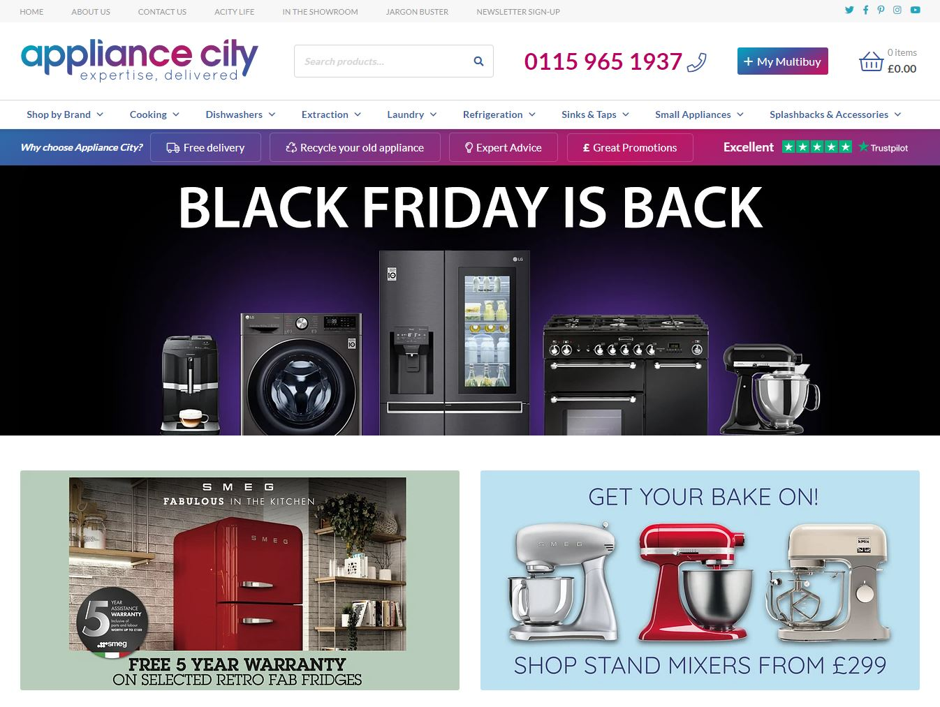 Appliance City Product Categories