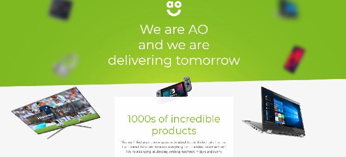 ao.com voucher codes homepage