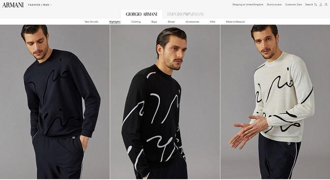 Armani Clothing
