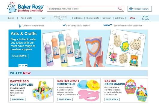 Baker Ross Homepage Screenshot