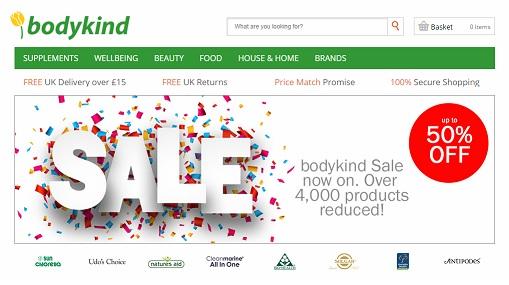 Bodykind Homepage Screenshot