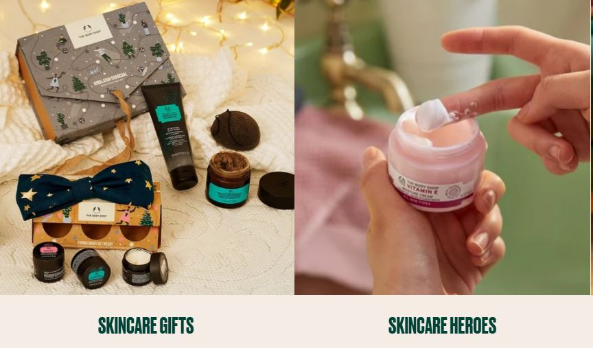The Body Shop Homepage