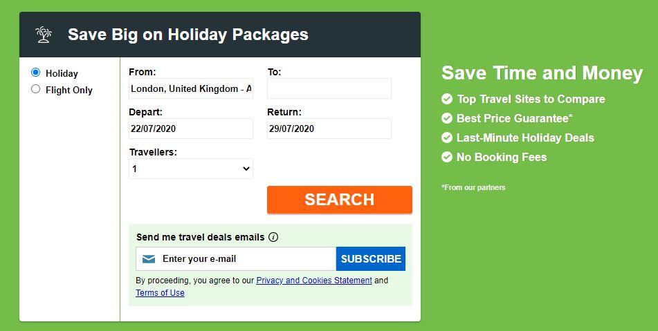 BookingBuddy Homepage