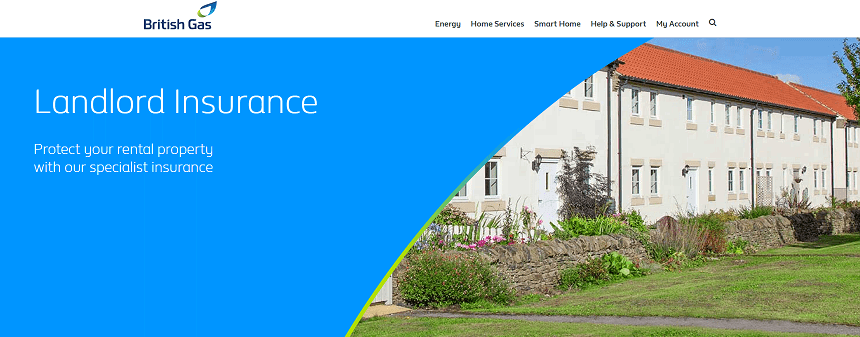 British Gas Landlord Insurance Homepage Screenshot