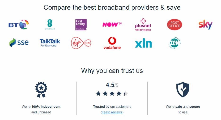 Broadband Genie Provider Comparison