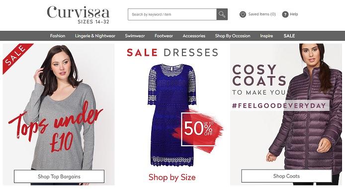 Curvissa Homepage Screenshot