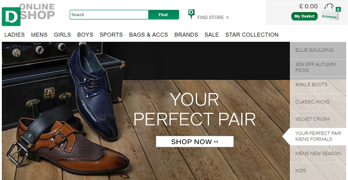 Deichmann Homepage Screenshot