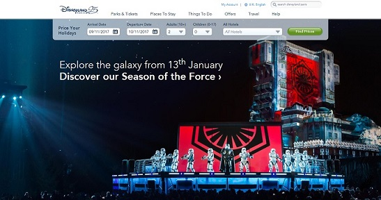 Disneyland Paris Homepage Screenshot