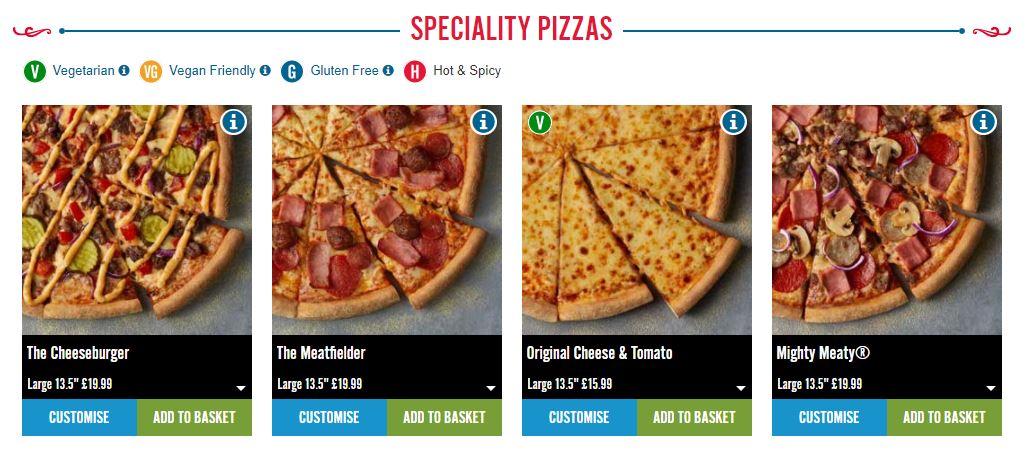 Domino's Pizza Homepage