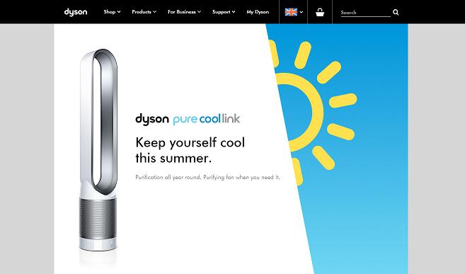 Dyson Homepage Screenshot