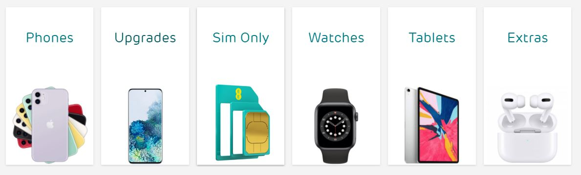 EE Mobile Contracts Homepage