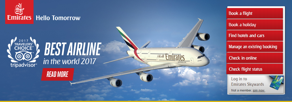 Emirates Best Airline in the world 2017