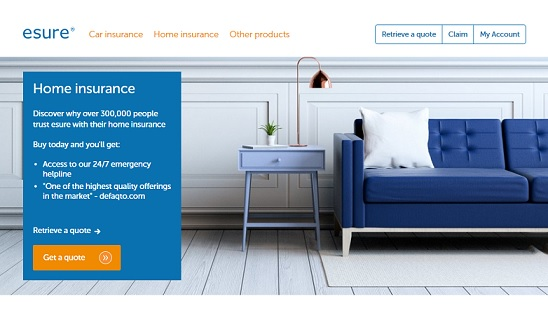 Esure Home Insurance Homepage Screenshot